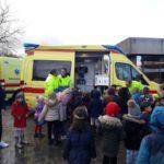 De ambulance kwam op bezoek!