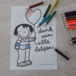 tips voor thuis: maak een tekening of versier een kleurplaat
